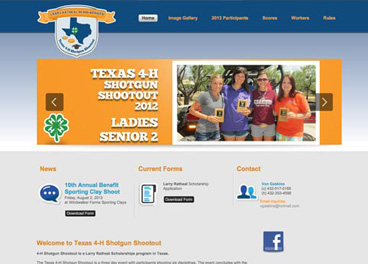 Website design - 4H shoot