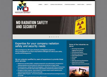 Wesbite design - MD Radiation Safety and Security